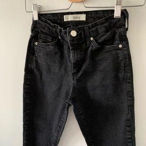 Topshop Moto Sidney skinny black jeans W26